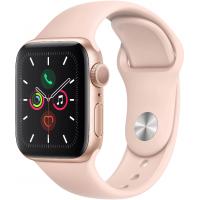 Apple Watch Series 5, 40 мм (корпус из алюминия золотого цвета, спортивный браслет цвета «розовый песок»)