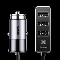 Автомобильная зарядка Baseus 3X USB Output Patulous Car Charger Grey