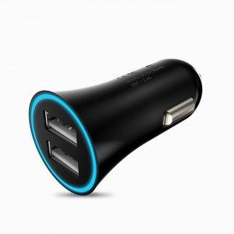 Автомобильное зарядное устройство HOCO UC204 2.4A Черный