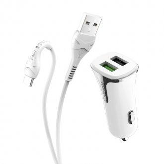 Автомобильное зарядное устройство HOCO Z31 Universe + кабель Type-C