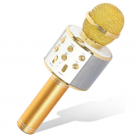 Беспроводной караоке-микрофон WS-858 (Золотой)