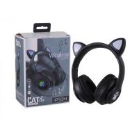 Беспроводные наушники Wireless Headphones Cat Ear Black (P33M)