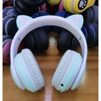 Беспроводные наушники Wireless Headphones Cat Ear Blue (P33M)