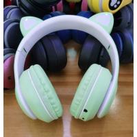 Беспроводные наушники Wireless Headphones Cat Ear Green (P33M)