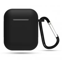 Чехол матовый для наушников Apple Airpods 1/2 Black