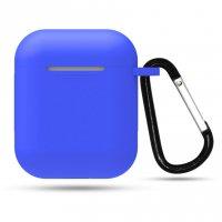 Чехол матовый для наушников Apple Airpods 1/2 Blue