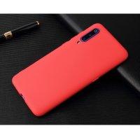 Cиликон матовый /тех.пак/ для Xiaomi Mi-9 (2019) красный