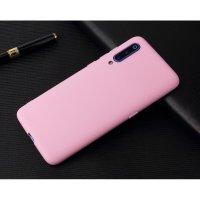 Cиликон матовый /тех.пак/ для Xiaomi Mi-9 (2019) розовый
