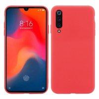 Cиликон матовый /тех.пак/ для Xiaomi Mi-9 SE (2019) красный