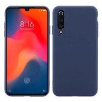 Cиликон матовый /тех.пак/ для Xiaomi Mi-9 SE (2019) темно-синий