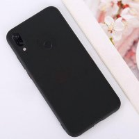 Cиликон матовый /тех.пак/ для Xiaomi Redmi 7 (2019) черный