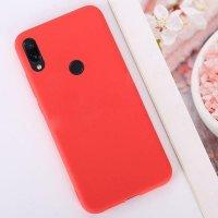 Cиликон матовый /тех.пак/ для Xiaomi Redmi 7 (2019) красный