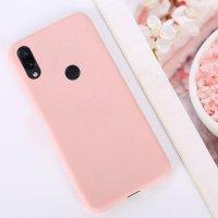 Cиликон матовый /тех.пак/ для Xiaomi Redmi 7 (2019) розовый