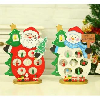 Деревянные украшения с игрушками, 2 вида 16х26 см