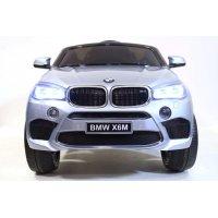 Детский Электромобиль Джип BMW X6M mini Серебро (JJ2199 СрбК)