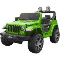 Детский электромобиль Джип Jeep Rubicon DK-JWR555 зеленый