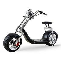 Электробайк CityCoco EL-HD Harley 2000W 60V20Ah (Li-ion) (Черный) + 10 дюймов колеса