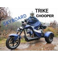 Электробайк CityCoco Skyboard Trike Chopper 3000 синий