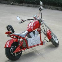 Электромотоцикл GreenCamel Chopper C100, 60V 1000W R12 красный