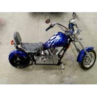 Электромотоцикл GreenCamel Chopper C100, 60V 1000W R12 синий