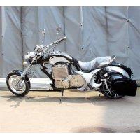 Электромотоцикл GreenCamel Chopper C200, 72V 3000W R15 черный