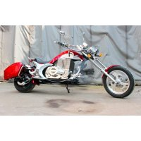 Электромотоцикл GreenCamel Chopper C200, 72V 3000W R15 красный