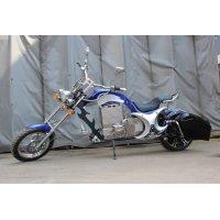 Электромотоцикл GreenCamel Chopper C200, 72V 3000W R15 синий