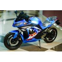 Электромотоцикл WS – sport (Синий) 3000W 18 дюйм кол. 72V40Ah (Li-ion)