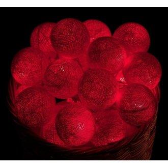 Гирлянда шары, 4 метра, красная