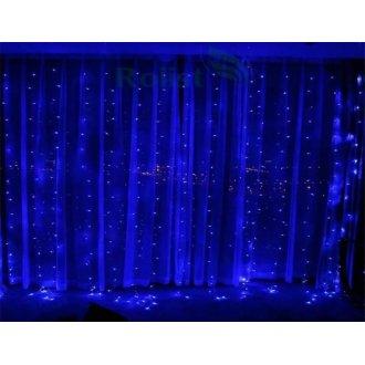 Гирлянда Штора, 1.5х1.5 метра, синий