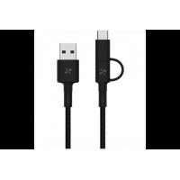 Кабель 2in1 USB Type-C/Micro Xiaomi ZMI 100см (чёрный) (арт. 04691)