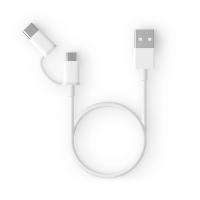 Кабель 2in1 USB Type-C/Micro Xiaomi ZMI 30см White AL511 (арт. 02153)