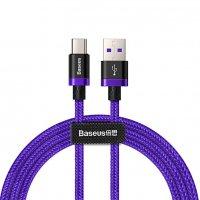 Кабель BASEUS Purple Ring HW USB Type-C 4А 1м (CATZH-A05) Фиолетовый