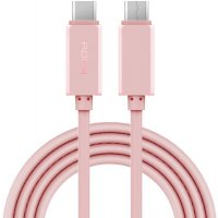 Кабель Type-C to C cable Rock (pink)