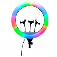 Кольцевая лампа RGB LED Soft Ring Light CXB-RGB200 (20 см)