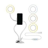 Кольцевая мини-лампа Professional Live Light 9см для мобильной фото/видео съемки