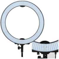 """Кольцевая светодиодная лампа освещение со штативом и пультом управления, модель RL-18"""""""