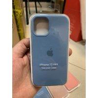 Накладка Silicone Case для iPhone 12 mini Dark blue