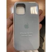 Накладка Silicone Case для iPhone 12 mini Silver gray
