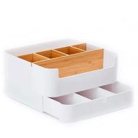 Настольный бамбуковый органайзер ZEN's Bamboo Multi-Fanction Storage Box White (Q/FJWJ-2017)