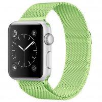Ремешок для Apple Watch 42/44 мм Миланская петля,светло-зеленый
