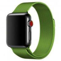 Ремешок для Apple Watch 42/44 мм Миланская петля,зеленый