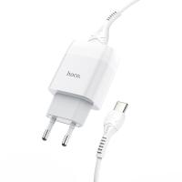 Сетевое зарядное устройство Hoco C72A + кабель Type-C (White)