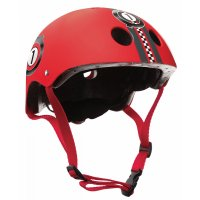 "Шлем ""Globber"" PRINTED JUNIOR 504-002XXS/XS (48-51см) / Красный"