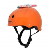 Шлем защитный с фломастерами Wipeout Neon Tangerine (L8+) - оранжевый