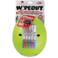 Шлем защитный с фломастерами Wipeout Neon Zest (M 5+) - кислотный