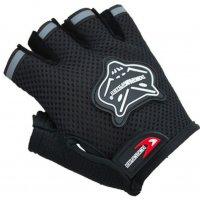 Спортивные перчатки полу-палец KniohThood черный
