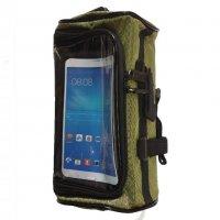 Сумка-Кейс + держатель для телефона Wolf Base для самоката Зеленая XL