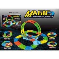 Светящаяся трасса с машинкой Magic Luminous Tracks (121 деталей в комплекте)