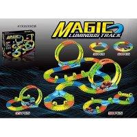 Светящаяся трасса с машинкой Magic Luminous Tracks (253 деталей в комплекте)